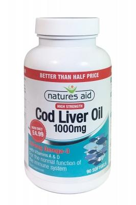 Cod Liver Oil, High Strength Cod Liver Oil, Natures Aid Cod Liver Oil