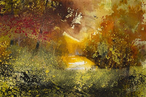 Autumn Glow by Sue Howells - original painting