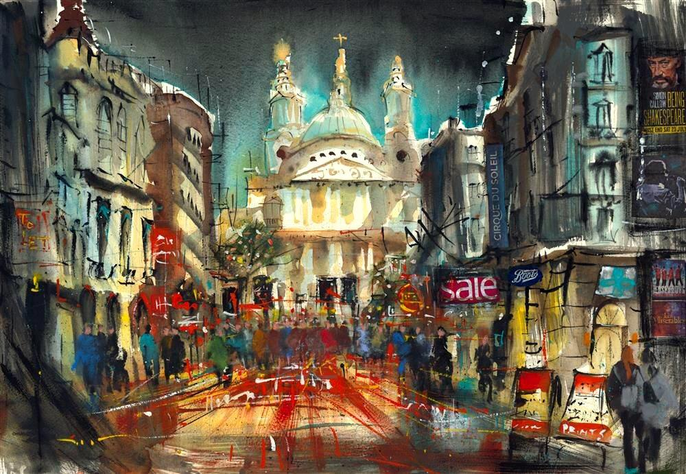 St Paul's London by Carol Mountford - Limited Edition art print CME008