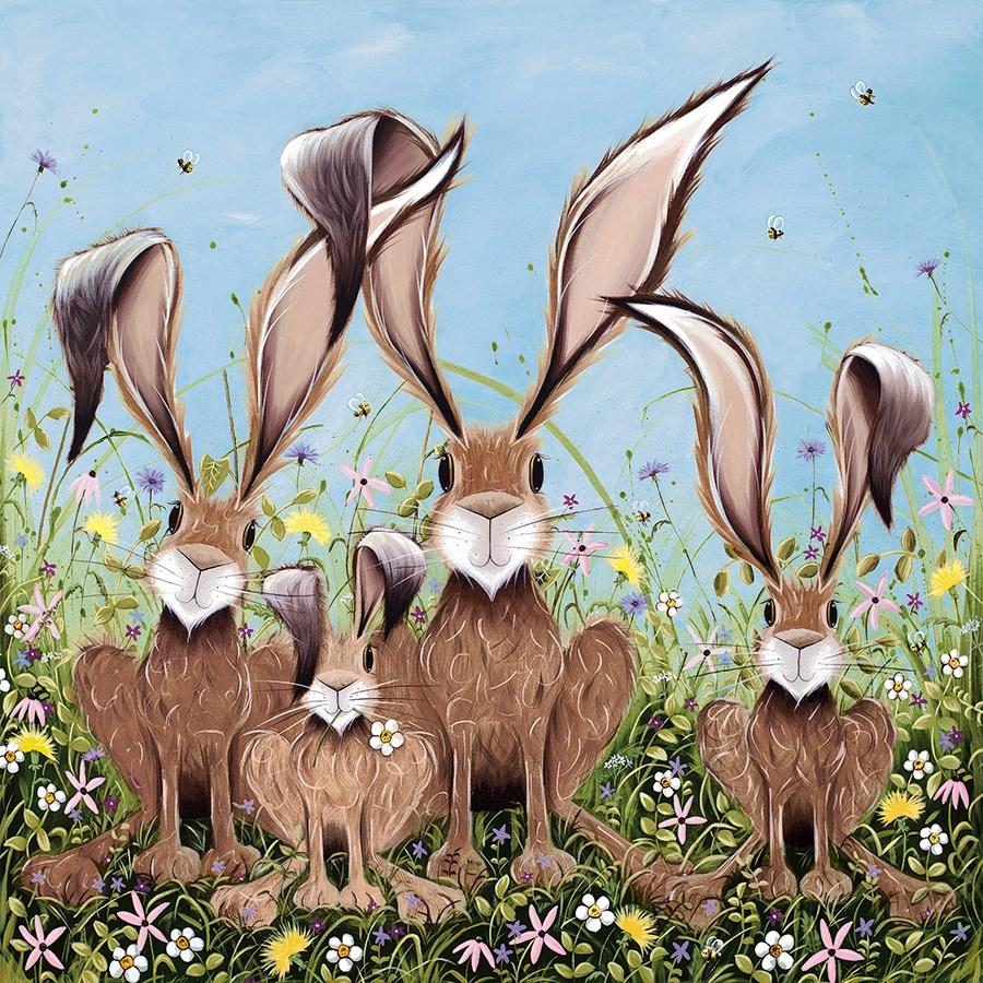 The McHoppers by Jennifer Hogwood - canvas art print LHOJ062