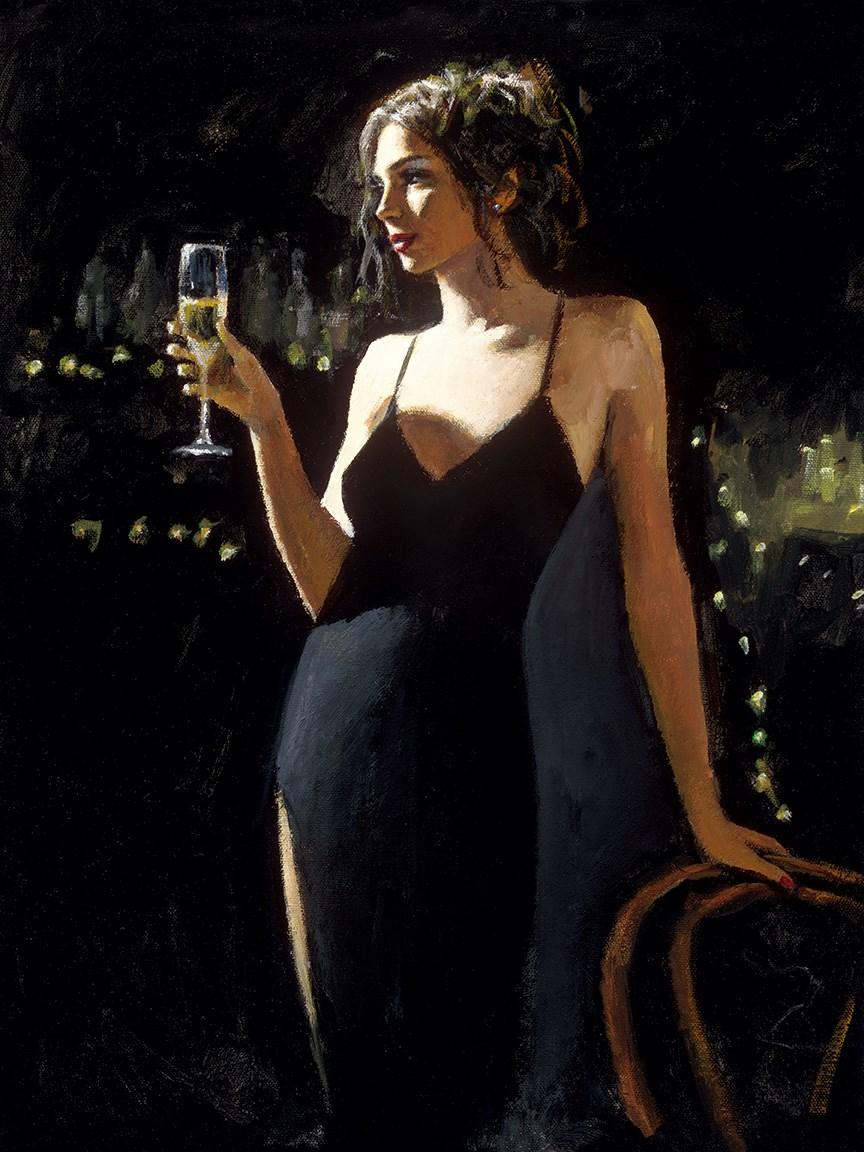 Tiffany with Champagne by Fabian Perez - canvas art print LPEZ1269