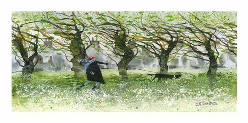 Windy Walkers by Sue Howells - Limited Edition art print SHE019