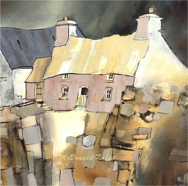 Cottage II by Gillian McDonald - landscape art print