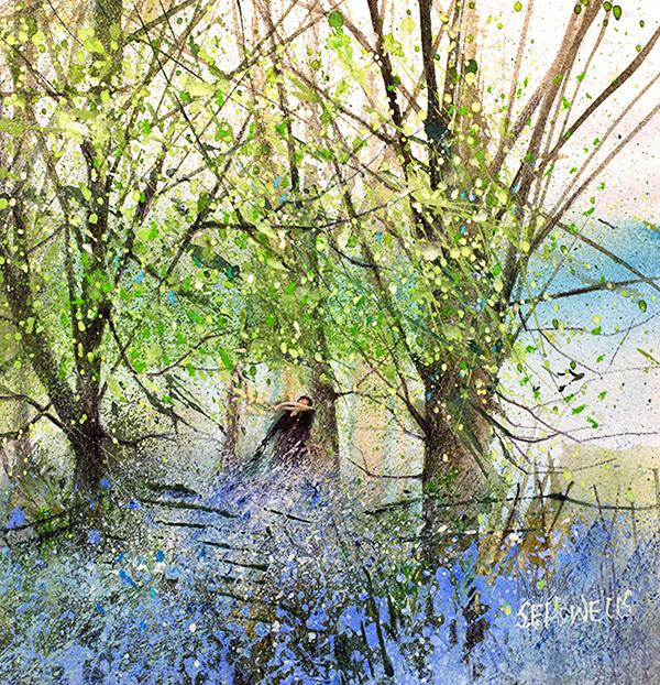 Bluebell Walk by Sue Howells - Limited Edition art print