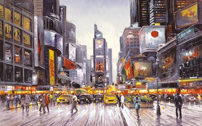 Times Square Morning by Henderson Cisz - canvas art print ZCIS190
