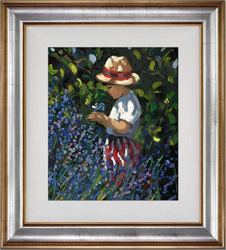Picking Bluebells by Sherree Valentine Daines - canvas print ZDAI231