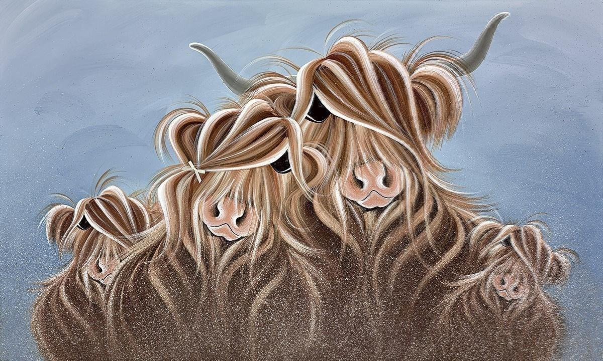 My Herd by Jennifer Hogwood - canvas art print LHOJ064