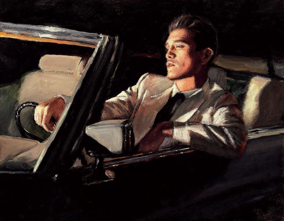 Late Drive II by Fabian Perez - canvas art print LPEZ1322