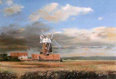 Cley Mill, Norfolk by Robin Smith - landscape art print