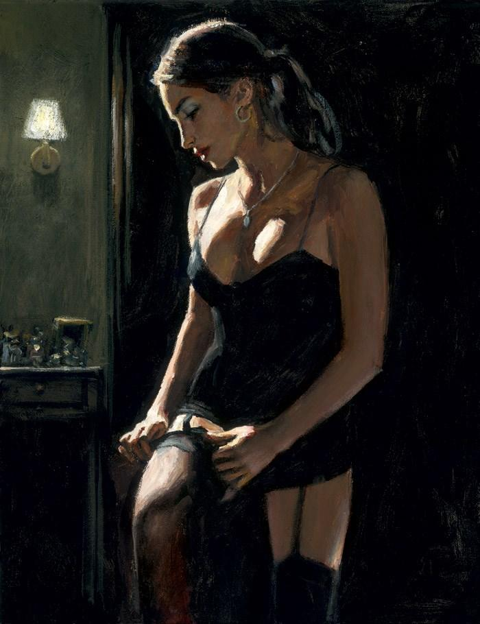 Analucia III by Fabian Perez - canvas art print LPEZ1092
