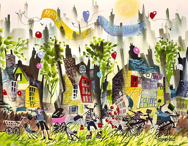 Happy Days by Sue Howells - Limited Edition art print