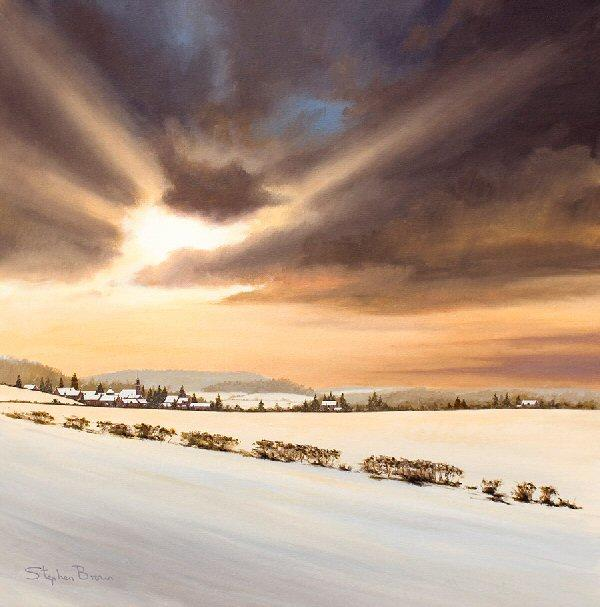 Winter Skies by Stephen Brown - landscape art print