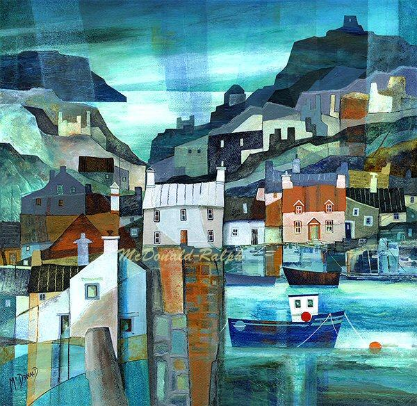 Fishing Village VI by Gillian McDonald - landscape art print