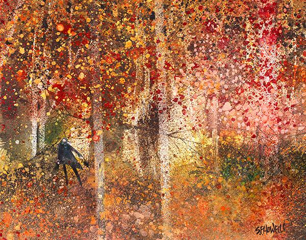 Autumn Leaves by Sue Howells - Limited Edition art print