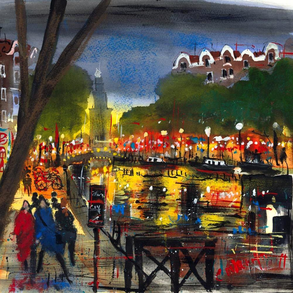 Amsterdam Lights by Carol Mountford - Limited Edition art print CME003