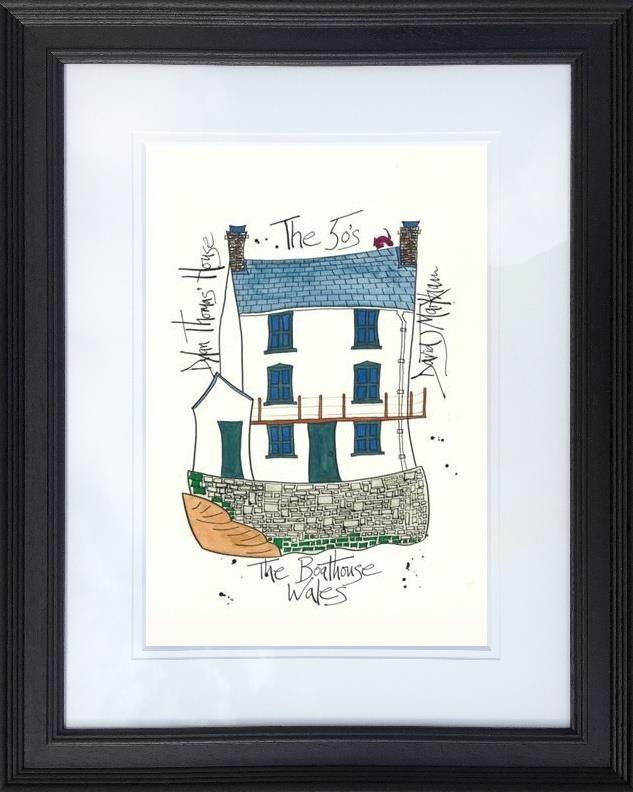 Dylan Thomas' House by Dave Markham - Limited Edition art print DME014