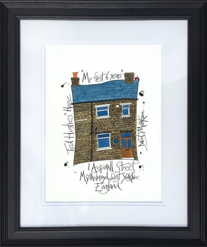 Ted Hughes' House  by Dave Markham - Limited Edition art print DME013