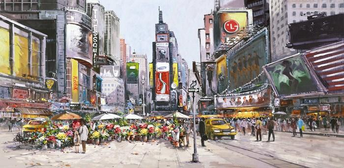 Times Square in Bloom by Henderson Cisz - canvas art print ZCIS166