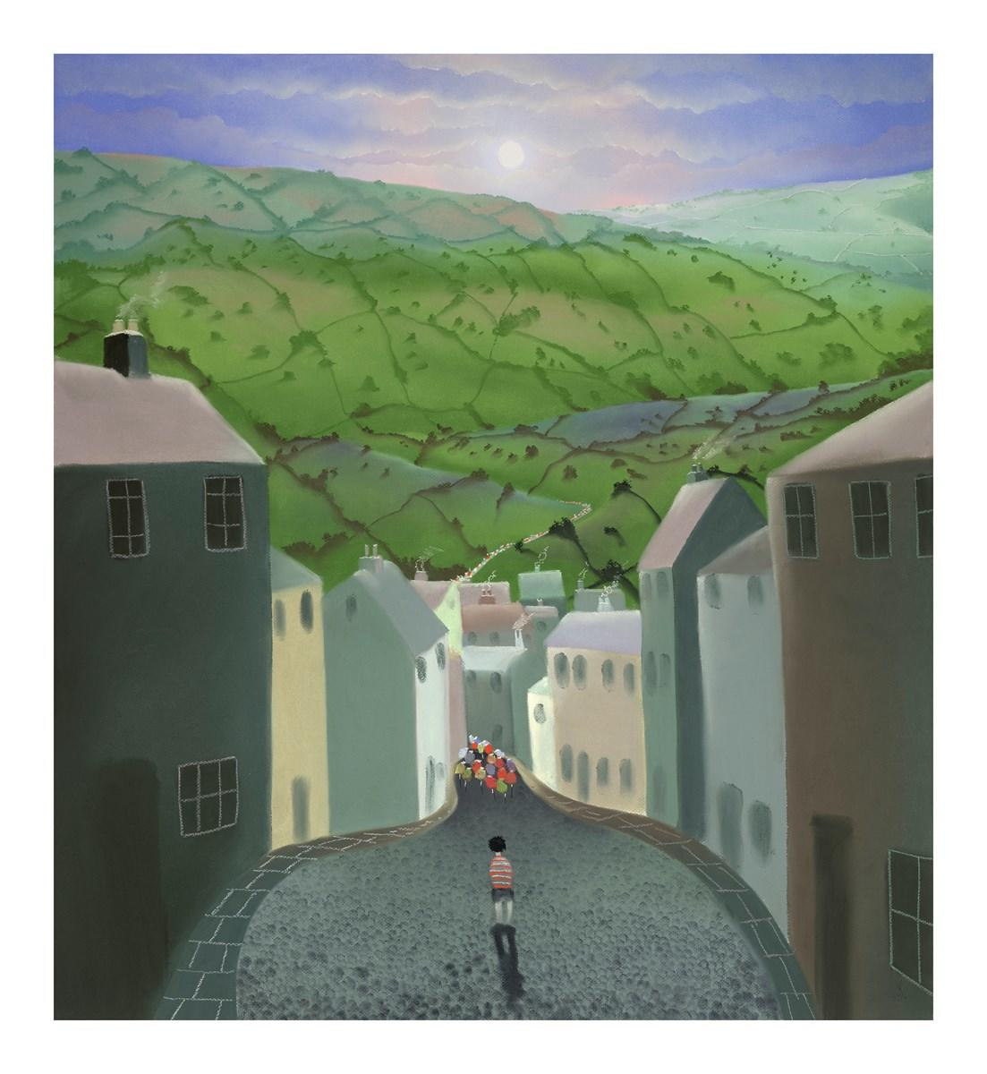 The Boy Without a Bike by Mackenzie Thorpe - Limited Edition LTHP036