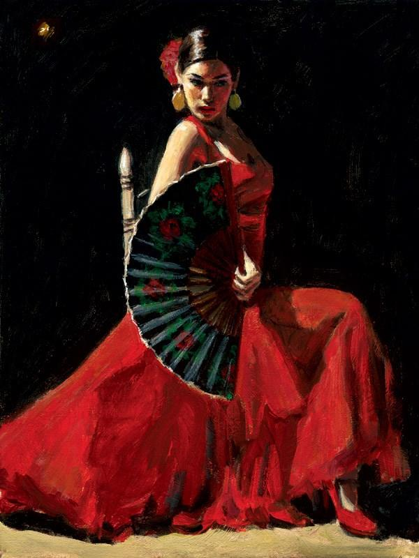 Study for Celina with Abanico IV by Fabian Perez - art print LPEZ1135