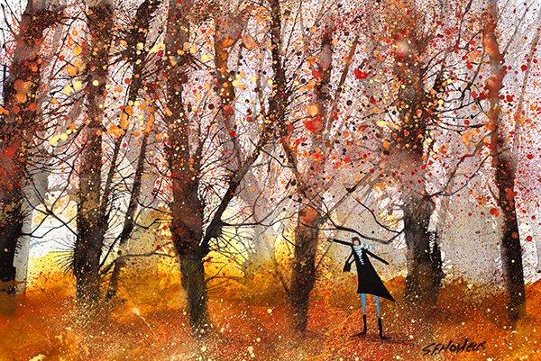 In the Middle of Autumn by Sue Howells - Limited Edition art print