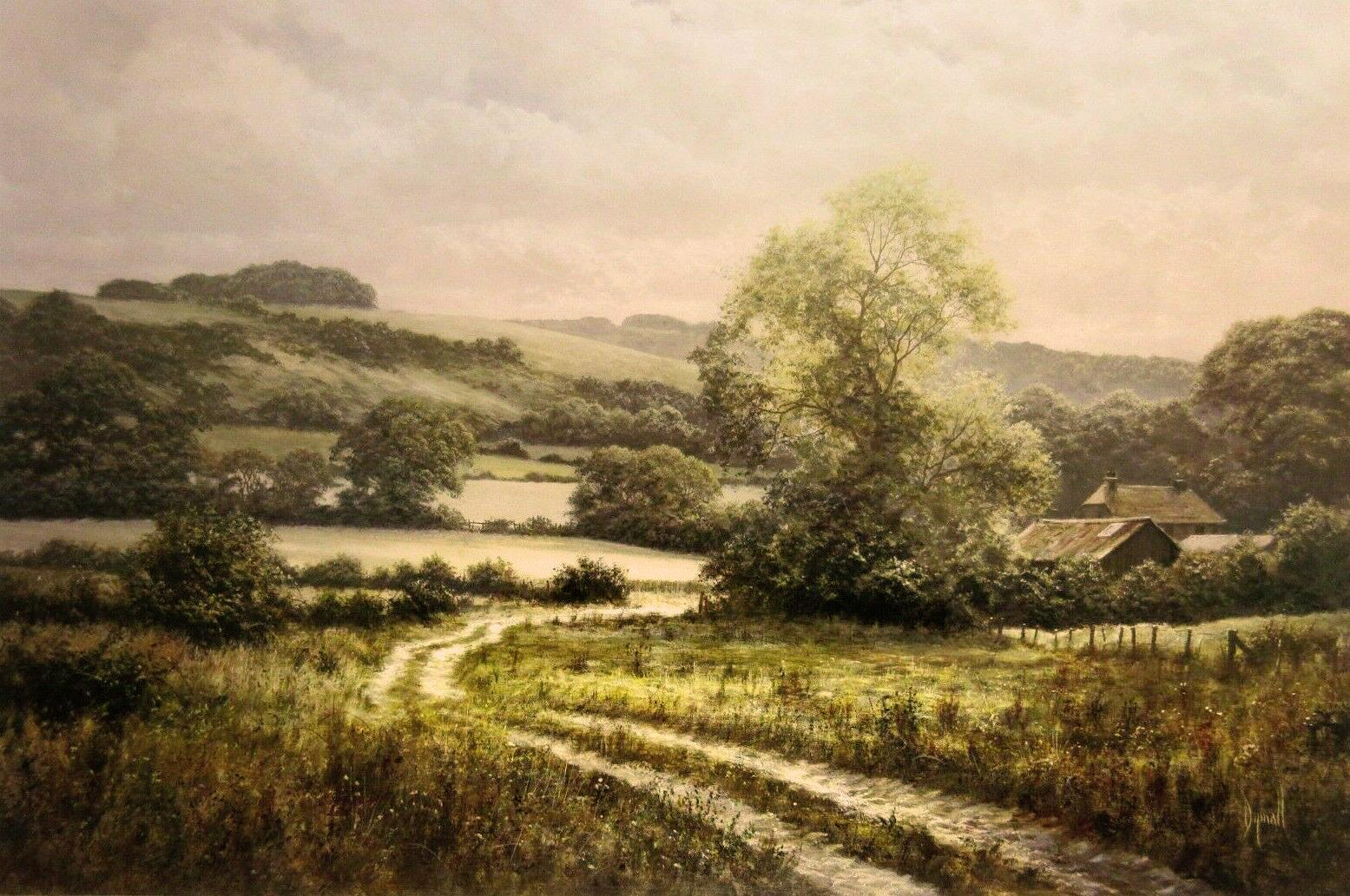 Farm Beneath the Downs by David Dipnall - landscape art print