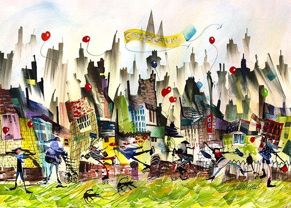 Celebration Time by Sue Howells - Limited Edition art print