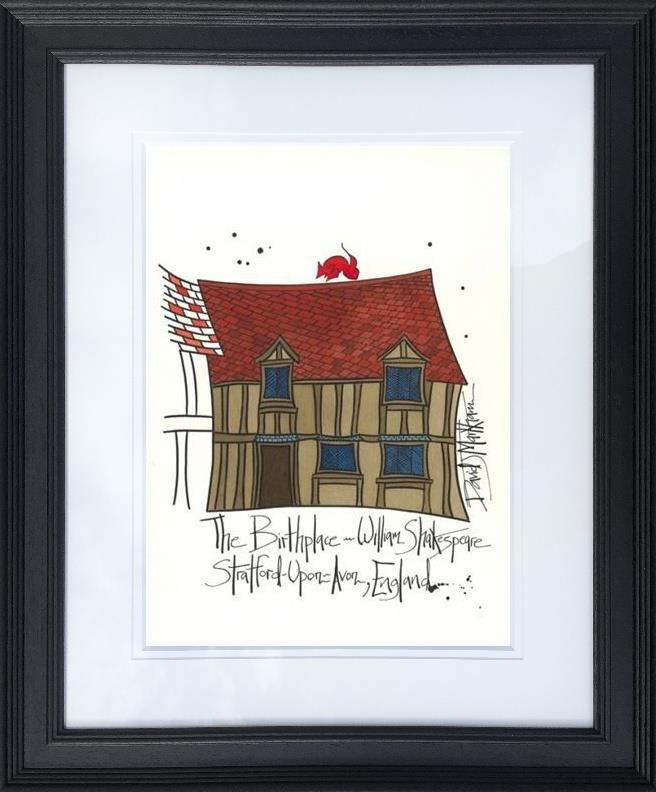 William Shakespeare's House by Dave Markham - art print DME011