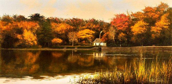 Autumn Evening by Stephen Brown - landscape art print