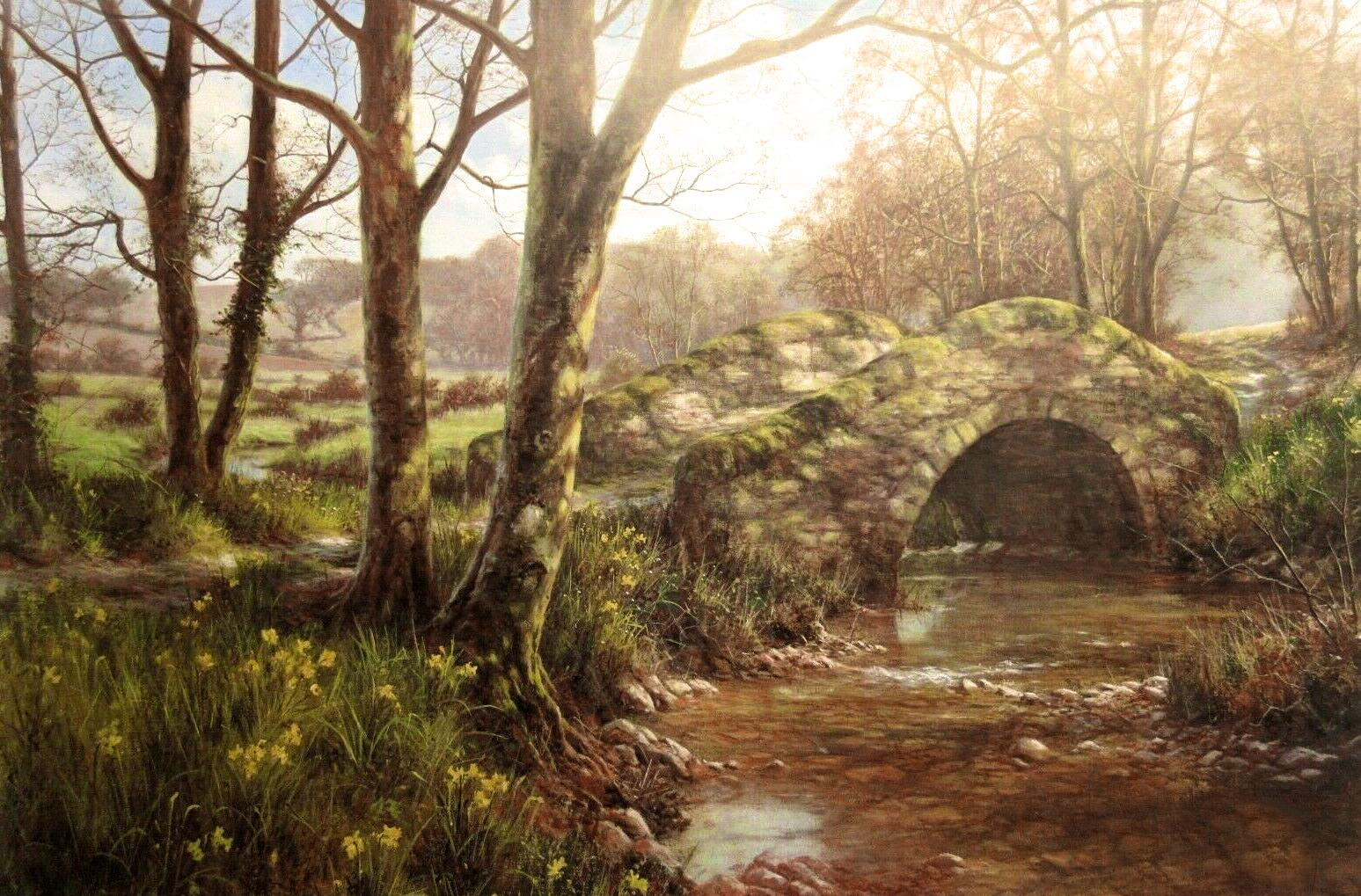 Daffodil Walk by David Dipnall - landscape art print