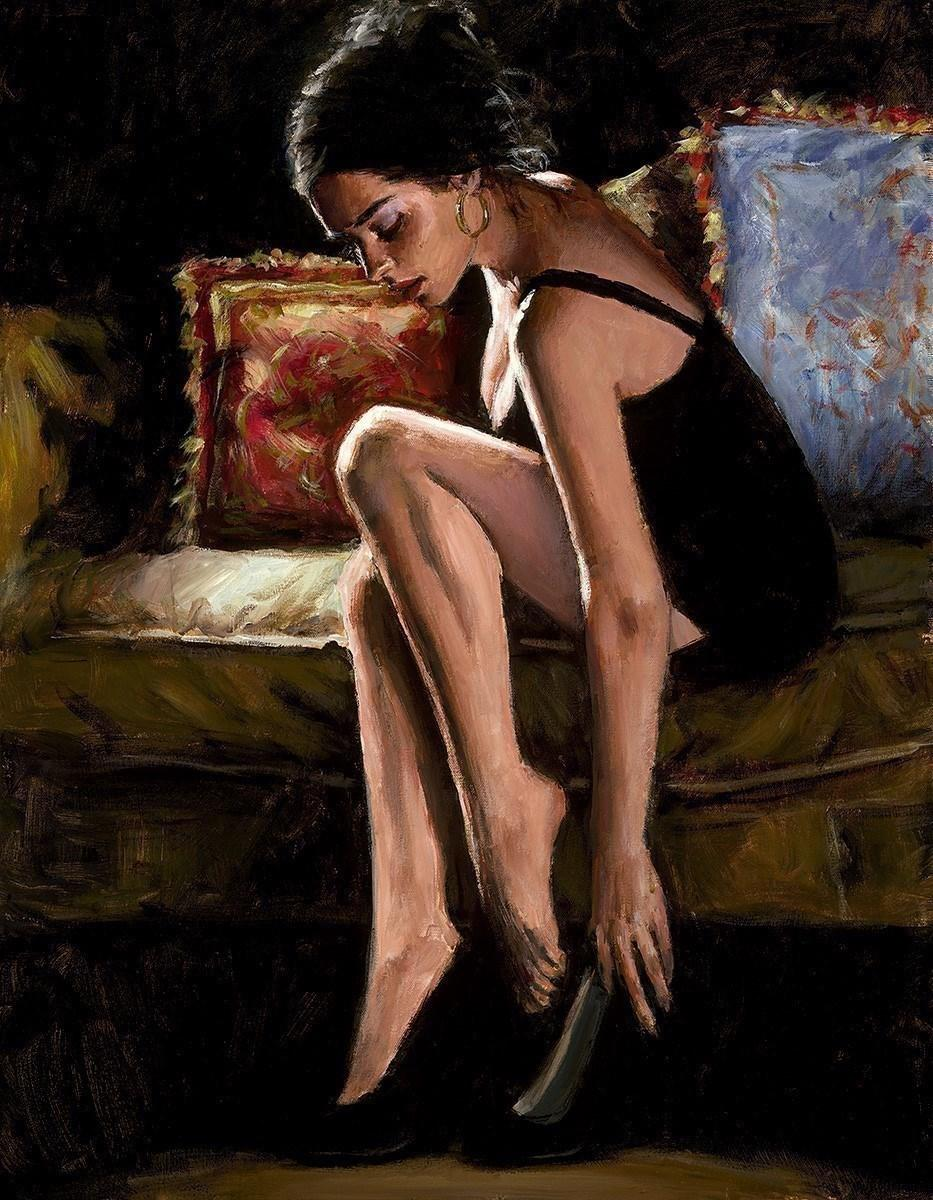 Blue and Red III by Fabian Perez - canvas art print LPEZ1321