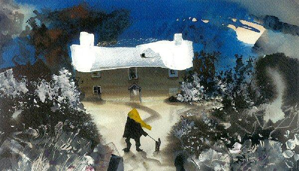 January Walk by Sue Howells - art print