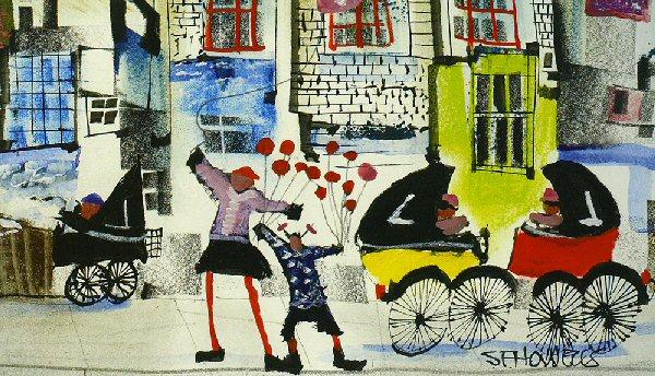 Waiting for the Siblings by Sue Howells - art print