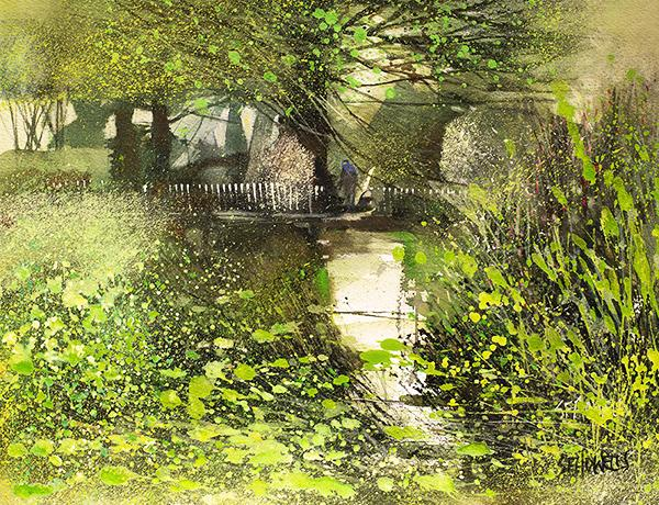 Banks of Green Willow by Sue Howells - original painting