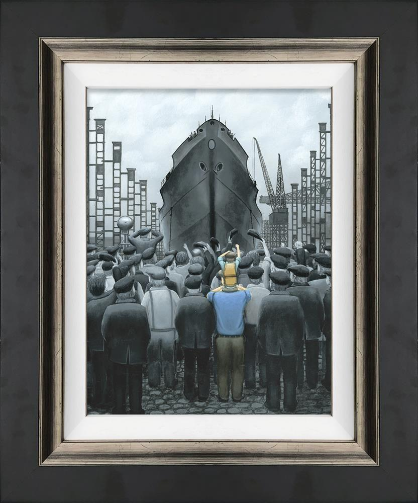 The Ship That Dad Built by Leigh Lambert - canvas art print LLE130C
