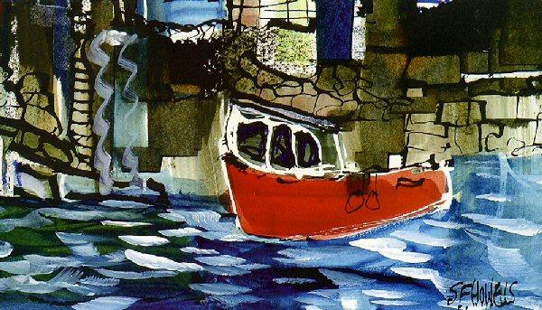 Small Red Boat by Sue Howells - art print