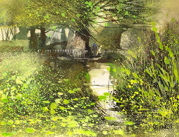 Banks of Green Willow by Sue Howells - Limited Edition art print