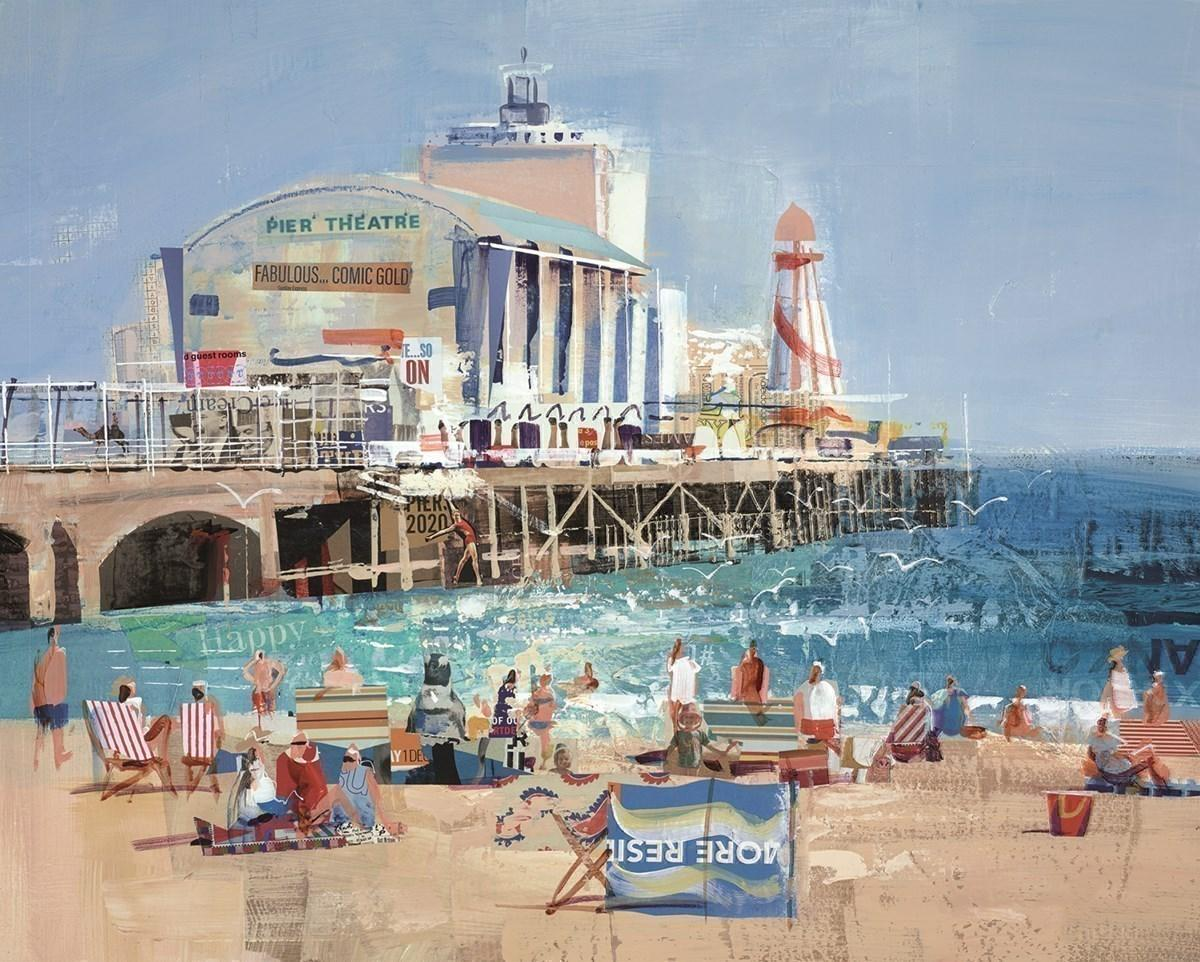 Bourne for the Beach by Tom Butler - Limited Edition art print LBTL048