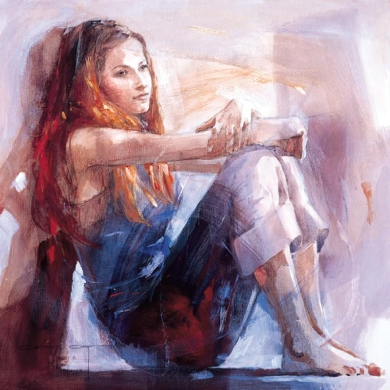 Whisper by Christine Comyn - canvas art print CCE003C