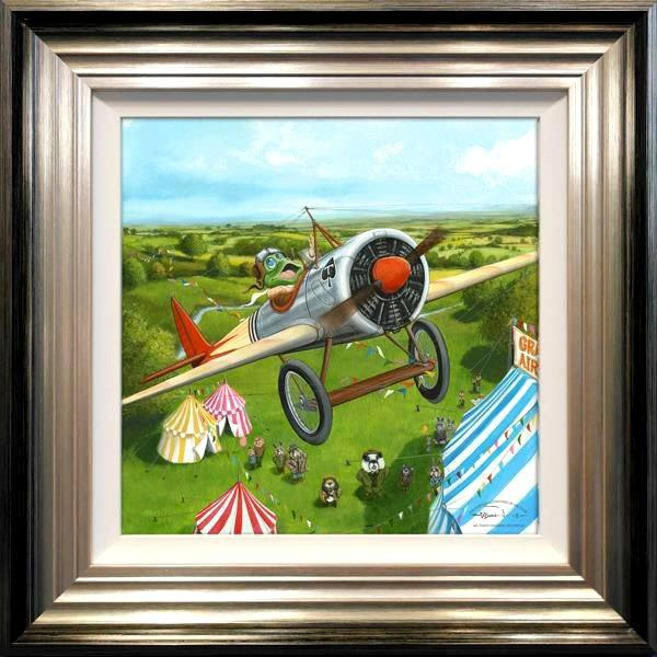 Mr Toad's Fantastic Air Display by Dale Bowen-canvas art print DBE050