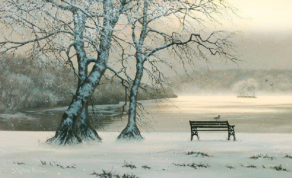 Deep Midwinter by Stephen Brown - landscape art print