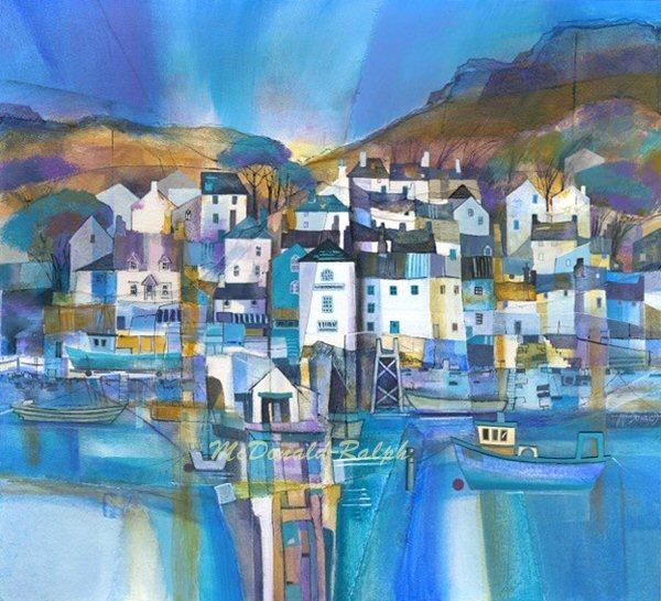 Dittisham I by Gillian McDonald - landscape art print