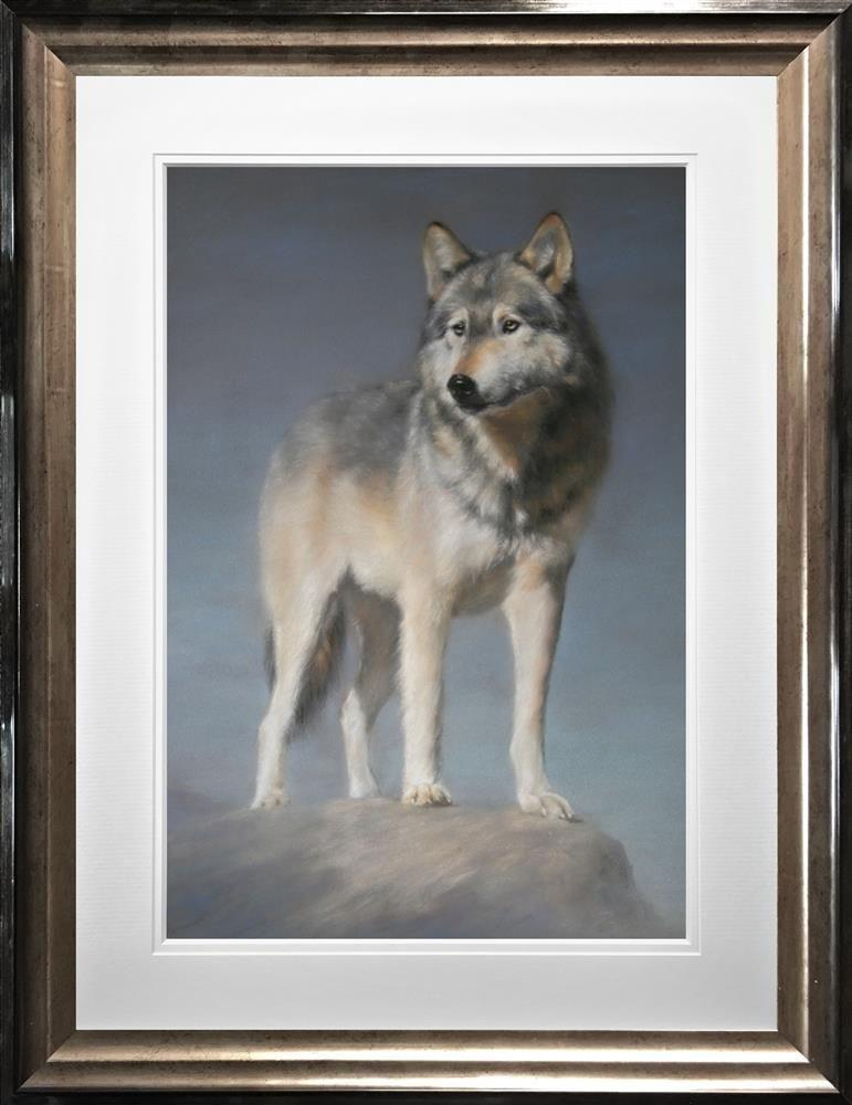 The Lookout by Vivien Walters - Limited Edition print - wolf VWE005