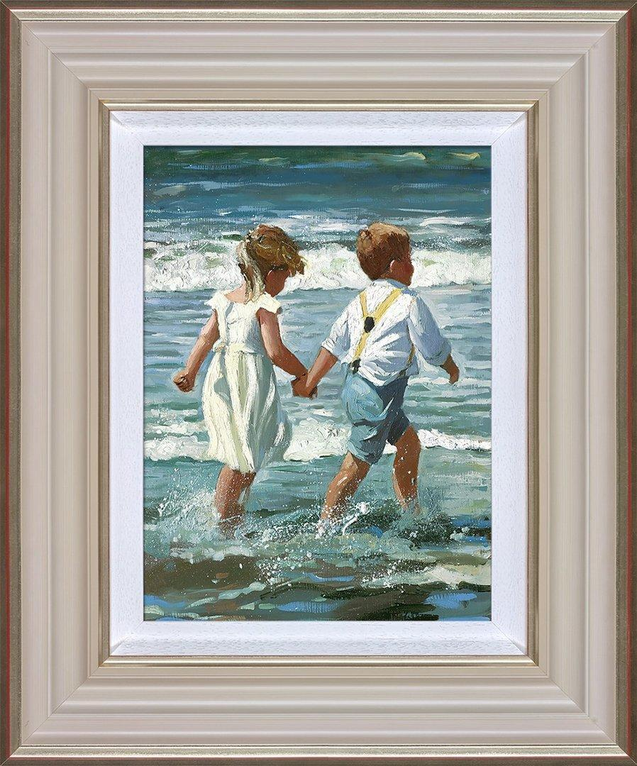 Chasing the Waves by Sherree Valentine Daines - canvas print ZDAI271