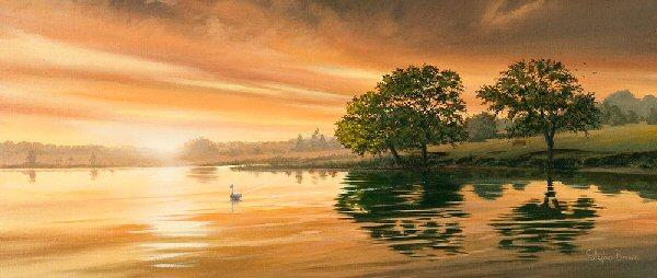 Midsummer Sunset by Stephen Brown - landscape art print