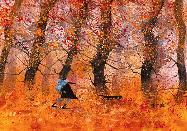 Just Walking the Dog by Sue Howells - Limited Edition art print