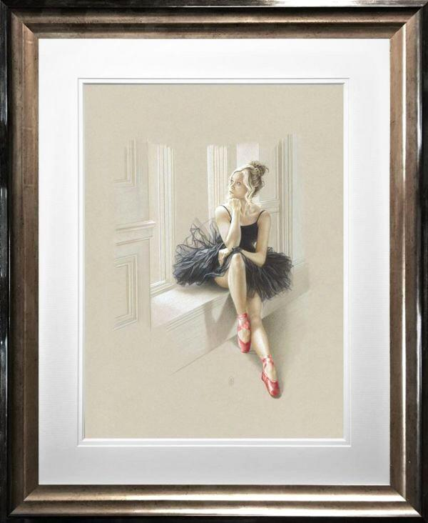 Black Swan II by Kay Boyce - Limited Edition ballet art print KBE004