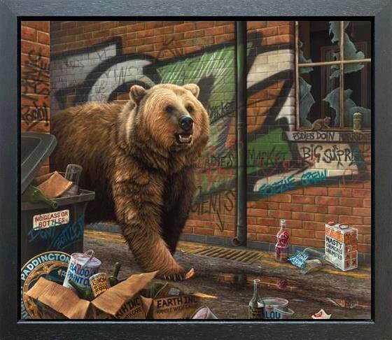 Grizzly by Paul James - canvas art print PJE002C