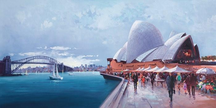 Sydney Harbour by Henderson Cisz - canvas art print ZCIS174