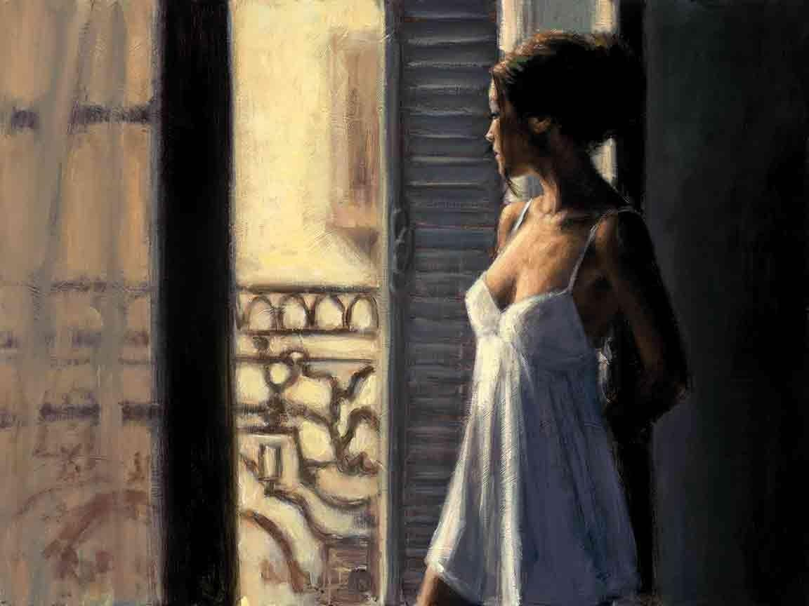 Balcony at Buenos Aires X by Fabian Perez - canvas art print LPEZ1227